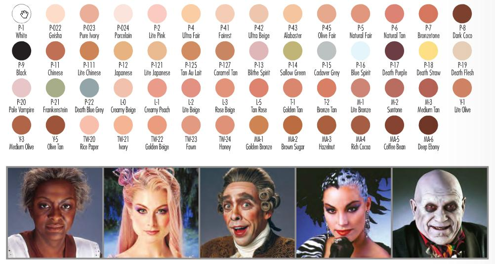 55 colores de creamy foundations de Ben Nye