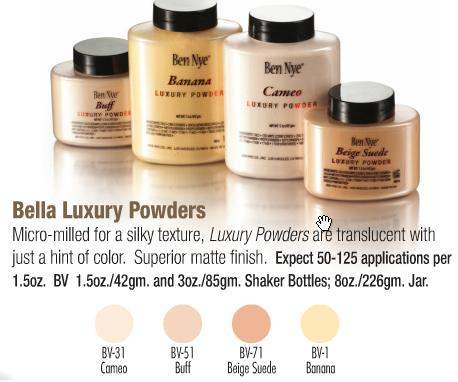 Gama de polvos Bella Luxury Powders de Ben Nye
