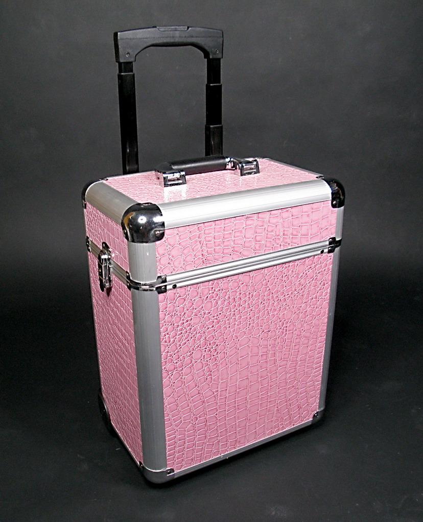 maletin de maquillaje con cajones laterales y ruedass