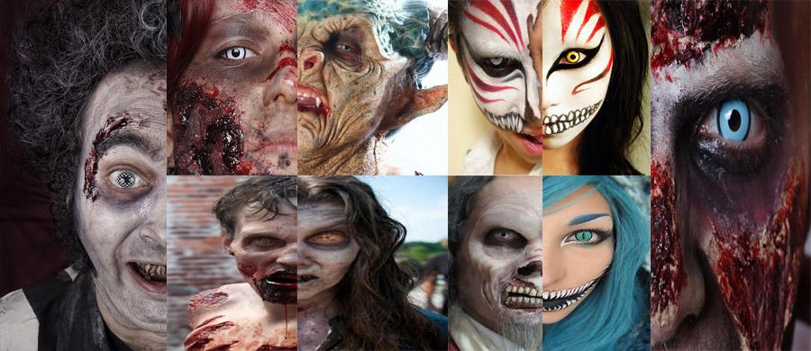 lentillas de fantasia en caracterizaciones halloween